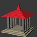 Basic Temple Building 3d Model