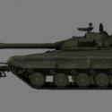 T-64b Trall Tank 3d Model