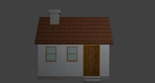 Casa Simple House Free 3d Model Objfbx Free Download