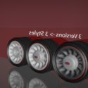 Hotrod Wheel Free 3d Model