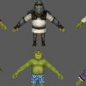 New Shrek Character 3d Model