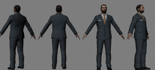 Mafia Boss Man Character