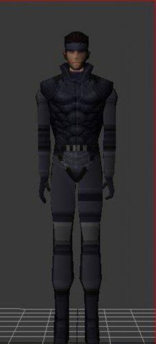 Solid Snake Free 3d Model (obj,max,fbx,dds,tga) Free