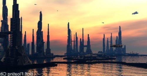 Scifi City Building Exterior Scene 3d Model (obj) Free