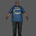 Obese Fat Male Character