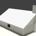Simple House Lowpoly 3d Model