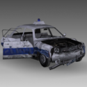Wracked Dacia 1310 Free 3d Model