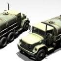 M35A2 Miltary Transport 3d Model