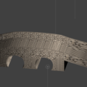 Medieval Stone Bridge 3d Model