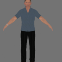 007 Daniel Craig Blue Shirt Free 3d Model