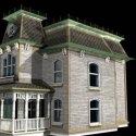 Bates House Building 3d Model