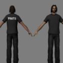Slim Long Haired Guy Free 3d Model