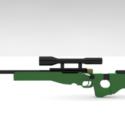 Awm Sniper Free 3d Model