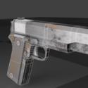 M1911a Short Gun Free 3d Model