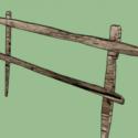 Wood Fence Free 3d Model