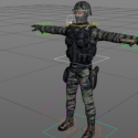 Soldier Rigged Character