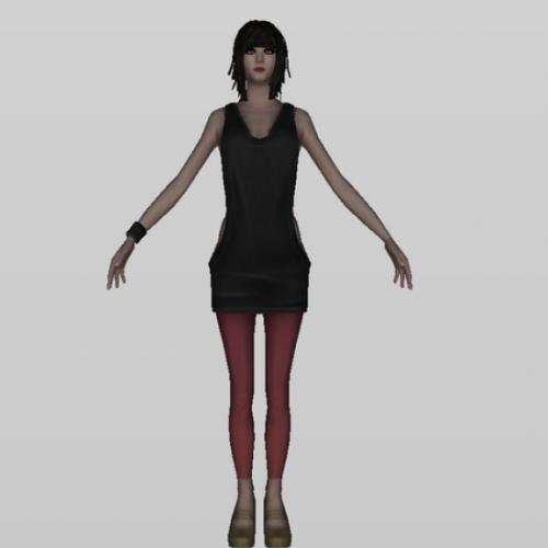 Download Freebies 3d Free Dancer Girl Character