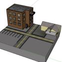 Street Environment Scene 3d Model
