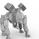4 Bein Mecha Roboter