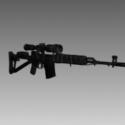 Svds Dragunov Free 3d Model