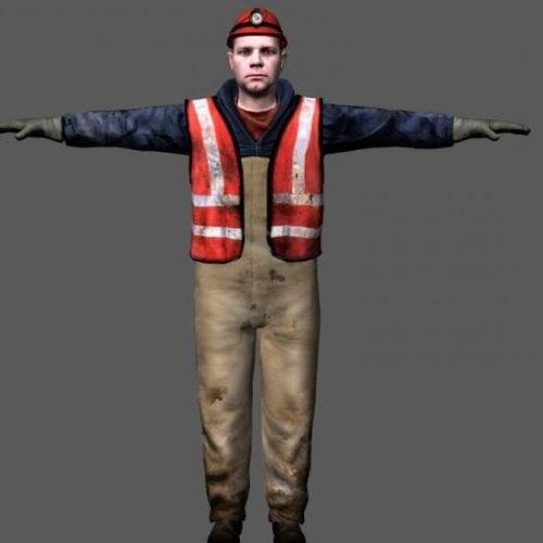 Carácter de hombre trabajador