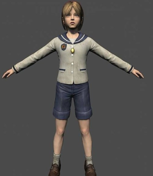 Sherry Birkin Character 3d Model (fbx) Free Download