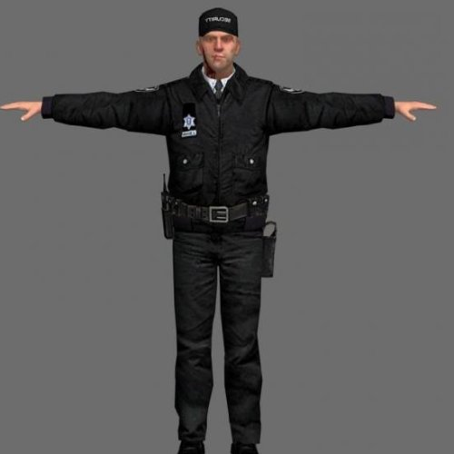 Security Man Character