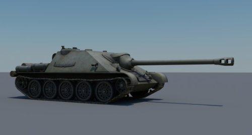 Su-122 Tank 3d Model (obj,max,dds) Free Download - ID12218