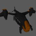 Vtol BEE Space Craft Free 3d Model