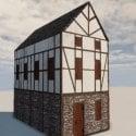 House Enxaimel Architecture Building Free 3d Model
