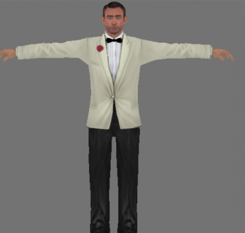 Sean Connery White Tuxedo Free 3d Model Obj Open3dmodel 14687