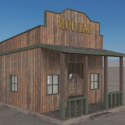Old Wood Saloon 3d Model