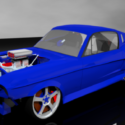 Drag Racing Shelby Gt500 Free 3d Model