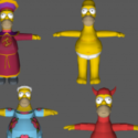 Simpsons Hit And Run- Homer Free 3d Model