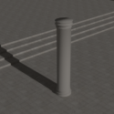 Pillar Building 3d Model
