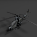 BF2 Havoc Helicopter Free 3d Model