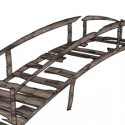 Old Wooden Bridge Free 3d Model