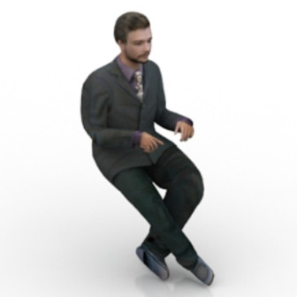 Business Men In Suits Character 3d Max Model Free