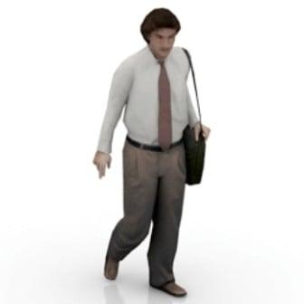 Hombre de negocios ambulante