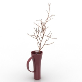 Home Decor Potted 3d Max Model Free