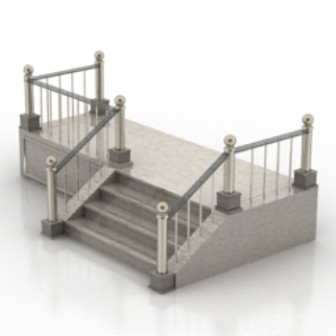 Western Staircase model Free