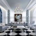 Interiér scény obývacího pokoje Středomoří