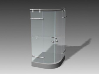 Glass Shower Room 3d Max Model Free