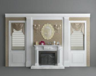 Interior Living Room Wall Decoration 3d Max Model Free