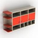 خزانة حائط برتقالية