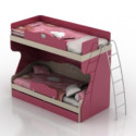 Cute Pink Bunk Bed 3d Max Model Free