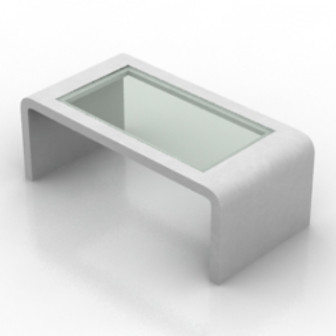 Transparent White Coffee Table 3d Max Model Free Download Link Preview