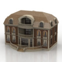 VIntage Architecture Manor Building 3d Max Model Free