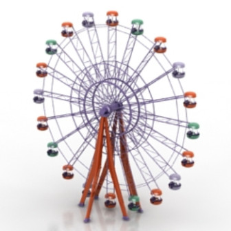 Ferris Wheel 3d Max Model Free (3ds,Max) Free Download - ID16757