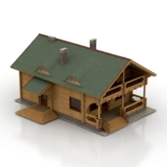 European wooden house design 3d max model free 3ds max for Free 3d house models